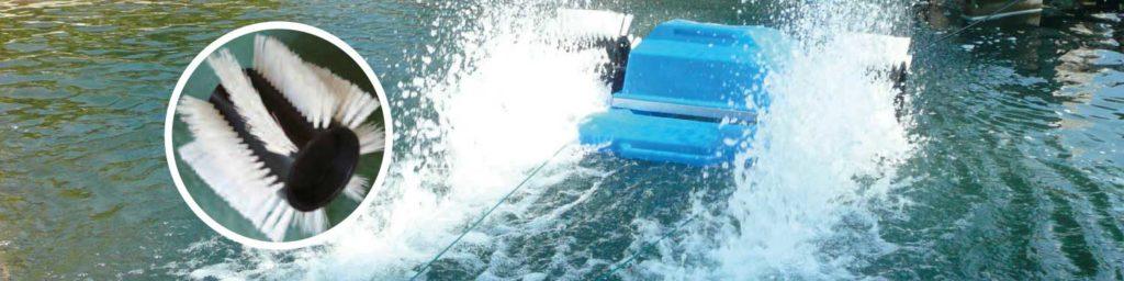 Aquawheel aerator for lakes and ponds