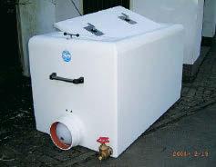 GRP fish transport tank