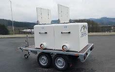 GRP fish transport tank mounted